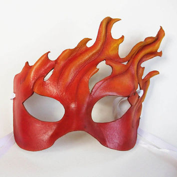 Flames Leather Mask by AnnieLibertini on Etsy