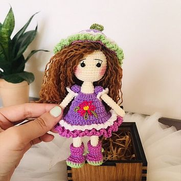 Crochet Doll, Baby Clothes, Amigurumi Doll, Miniature Doll, Teen Girl Gifts, Birthday Gift