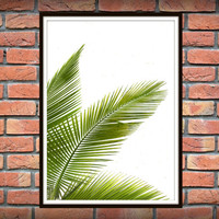 Tropical Leaf Print, Green Palm Art, Palm Art, Palm Leaves, Art Photo, Tropical Prints, Palm Leaf Prints, Tropical Decor, Green Decor *4*