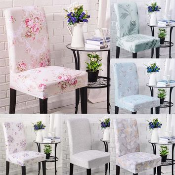 2017 New Soft Stretch Chair Decor Dining Room Chair Cover Banquet Stool Slipcover Chair Cover