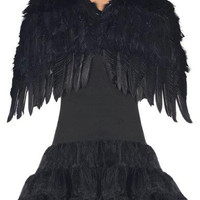 Deluxe Adult Black Angel Wings
