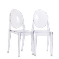 Modway Casper Dining Chairs Set of 2 in Clear