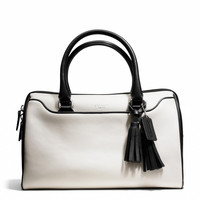 legacy haley satchel in two tone leather