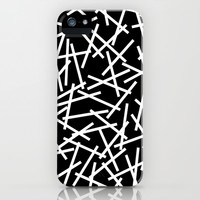 Kerplunk Black and White iPhone & iPod Case by Project M
