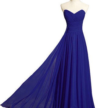 Criss Cross Royal Blue Prom Dresses Sweetheart Elegant ong A-line Women Formal Evening Bridesmaid Gorgeous Corset Ladies Cheap 2014 New