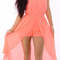 Conversation (Neon Orange)-Great Glam is the web's best online shop for trendy club styles, fashionable party dresses and dress wear, super hot clubbing clothing, stylish going out shirts, partying clothes, super cute and sexy club fashions, halter and tu