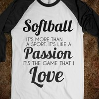 Supermarket: Softball: The Game That I Love from Glamfoxx Shirts