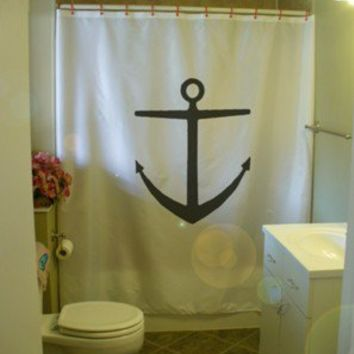 anchor ship Shower Curtain sea metal hull seabed maritime nautical bath