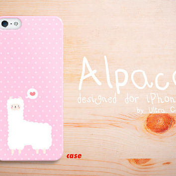 iPhone 4 Case cute alpaca iPhone 4S Hard Case pink by UltraCase