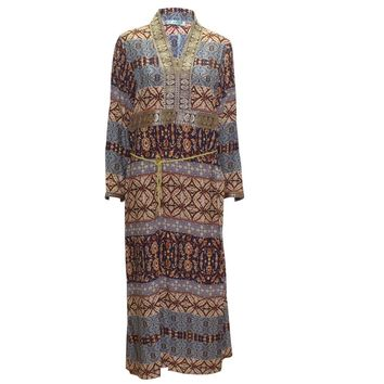 Tilapia new arrivals gorgeous kaftan gown fashion women dress ankara style Pakistan african traditonal print big royal dress