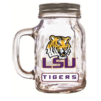 16Oz Mason Jar Lsu Tigers