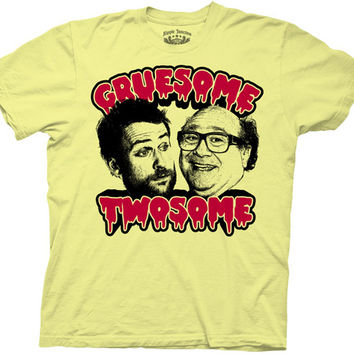 It's Always Sunny in Philadelphia Gruesome Twosome Charlie & Frank Yellow Adult T-shirt