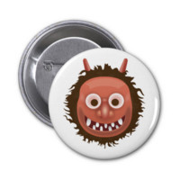 Japanese Ogre Emoji Pinback Button