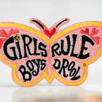 Girls Rule. Boys Drool... Patch.
