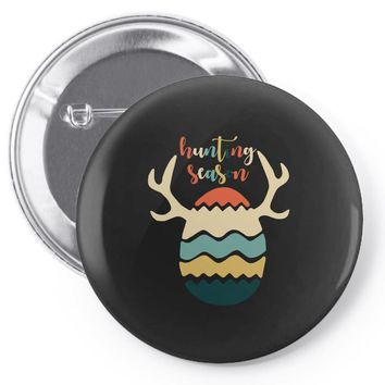 Hunting Season Retro Color 80s Style Pin-back button