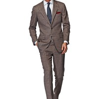 Suit Brown Check York P3840 | Suitsupply Online Store
