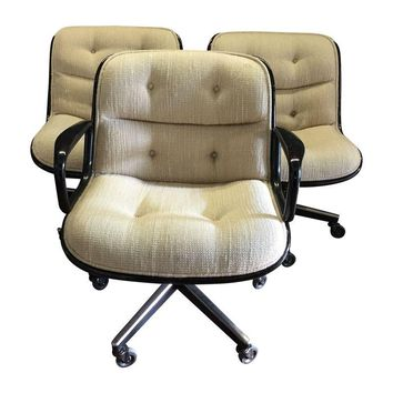 Pre-owned Knoll Pollock Chairs in Oatmeal Wool