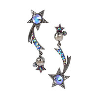 BETSEYS DARK MAGIC STAR EARRINGS: Betsey Johnson