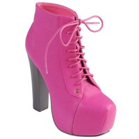 Hailey Jeans Co Womens Lace-up High Heel Bootie