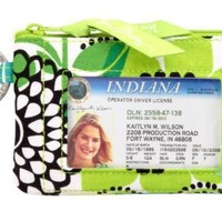 Vera Bradley Zip ID Case in Lime's Up