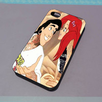 TaBeginie Ariel The little mermaid iPhone 4, 4s, 5 and 6 case