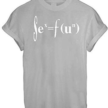 SIENCE CHEMISTRY MATHS FUN GEED NERD MEN WOMEN UNISEX T SHIRT TOP TEE NEW - Grey
