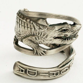 Vintage Alligator Florida Souvenir Sterling Silver by Spoonier
