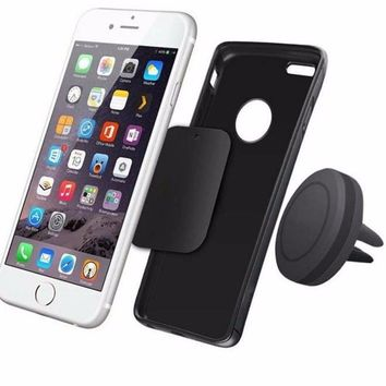 Universal Magnetic holder for phone Air Vent Mount Holder Stand for Mobile Cell Phone For iPhone 7 Plus Magnetic phone holder SJ