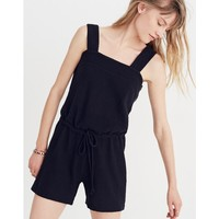 Side-Button Drawstring Romper : shopmadewell tanks | Madewell