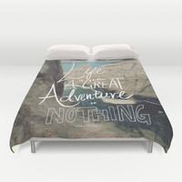 Great Adventure Duvet Cover by Leah Flores