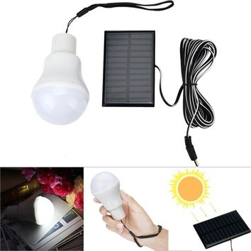 Portable Solar Powered 12 LED Rechargeable Bulb Light Outdoor Camping Yard Lamp Panel data cable 3 meters Line Drop Shipping