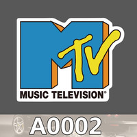 A0002 MUSIC TELEVISION MTV Waterproof Cool DIY Sticker for Cars Laptop Luggage Fridge Skateboard Graffiti Notebook Stickers