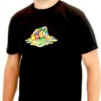 Rubik's Cube Melting Sheldon Cooper The Big Bang Theory Black T-shirt