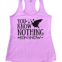 You Know Nothing Jon Snow Womens Workout Tank Top