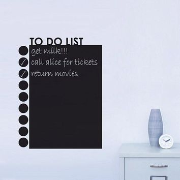 To Do List Planner Calendar Chalkboard Blackboard Vinyl Wall Sticker Decal ZYVA-221-NA Planner mural wallpaper