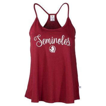 Gold Official NCAA Florida State University Seminoles Fsu Noles Women's Lamp Shade Hi Lo Tank