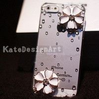 iphone 4s case, handmade iphone 5 case iphone cover skin iphone 4 cover case - flowers iphone 5 cases