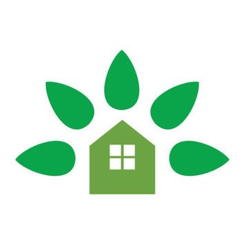 Green Home with House and Leaf Logo Design Vector for Your Future Business