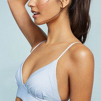 Boys + Arrows Striped Triangle Bikini Top