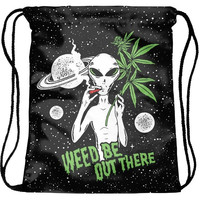 Weed Be Out There Drawstring Bag