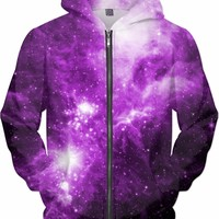 Pink Galaxy Rolling Through Space [NGC-2264] | Universe Galaxy Nebula Star Clothes | Rave & Festival Shirt