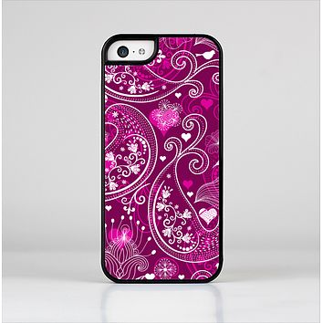 The Vivid Pink and White Paisley Birds Skin-Sert for the Apple iPhone 5c Skin-Sert Case