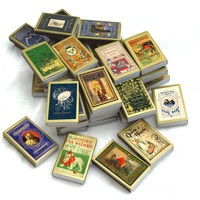 Fifty (50) Book Covered Matchboxes - Unique Wedding / Party Favors - Unique Tiny Gifts - Illustrated Matchboxes - Light a Literary Spark