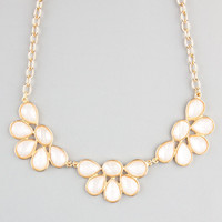 Full Tilt Crescent Flower Statement Necklace Ivory One Size For Women 23230116001