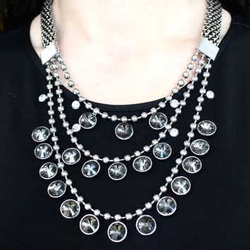 Three Layer with Circle Pendants Necklace