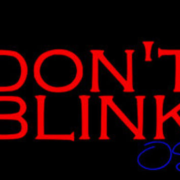 Don't Blink Vinyl Wall Decal - Doctor Who Inspired Wall Decal - Weeping Angels - Small, Medium, Large, X-Larger, & Even Larger!