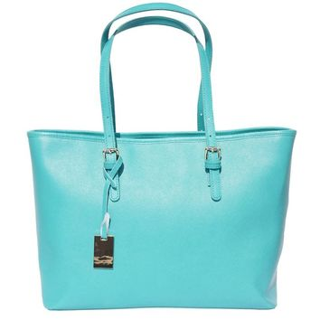 Leather Shopping Tote - Eloisa