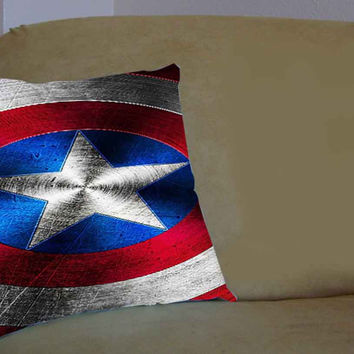 Shield of Captain America - Pillow Case, Pillow Cover, Custom Pillow Case **