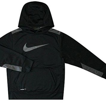 Nike Youth Boy's KO 3.0 Training Pullover Hoodie Black/Grey 853717 010