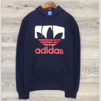 "adidas Men Fashion ""Adidas"" Hooded Top Sweater Pullover Sweatshirt G-A-GHSY-1"